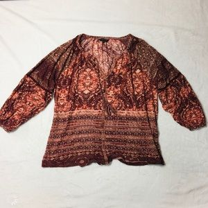 Lucky Brand- Peasant Blouse Size 1x